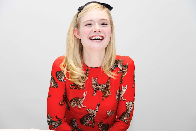 HQ Photos of Elle Fanning at 'The Neon Demon' Photocall in Los Angeles