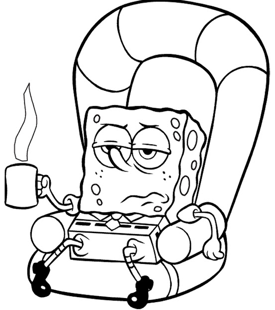 Free Spongebob Coloring Pages Cute Image
