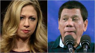 Bill Clinton, Chelsea Clinton, Donald Trump, Rodrigo Duterte, Monica Lewinsky, Hillary Clinton
