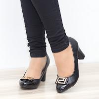 Pantofi dama Elenore negri cu toc gros • modlet