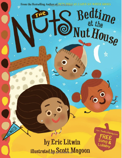 Book Review: The Nuts Bedtime at the Nut House. Video, Acorn Art, free acorn paper #bedtimeatthenuthouse #booksforkids #acorns #gradeonederful
