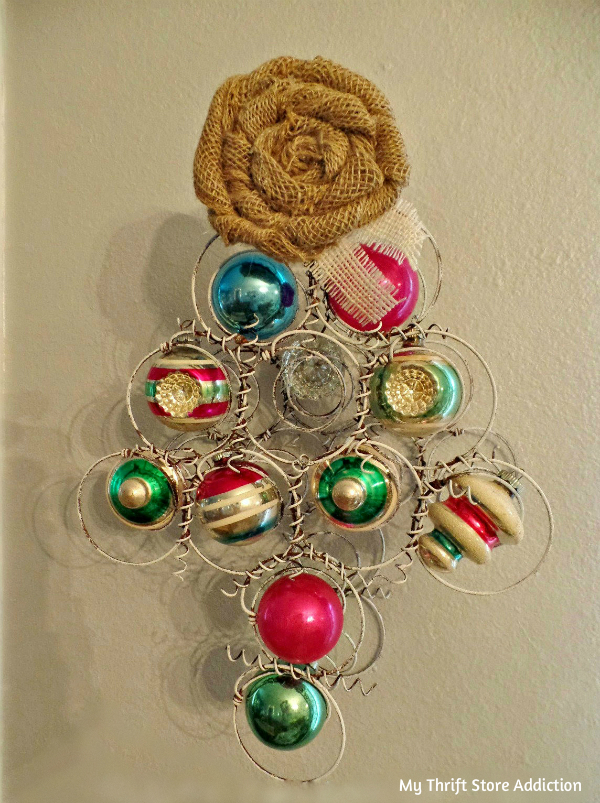 repurposed bedspring ornament tree