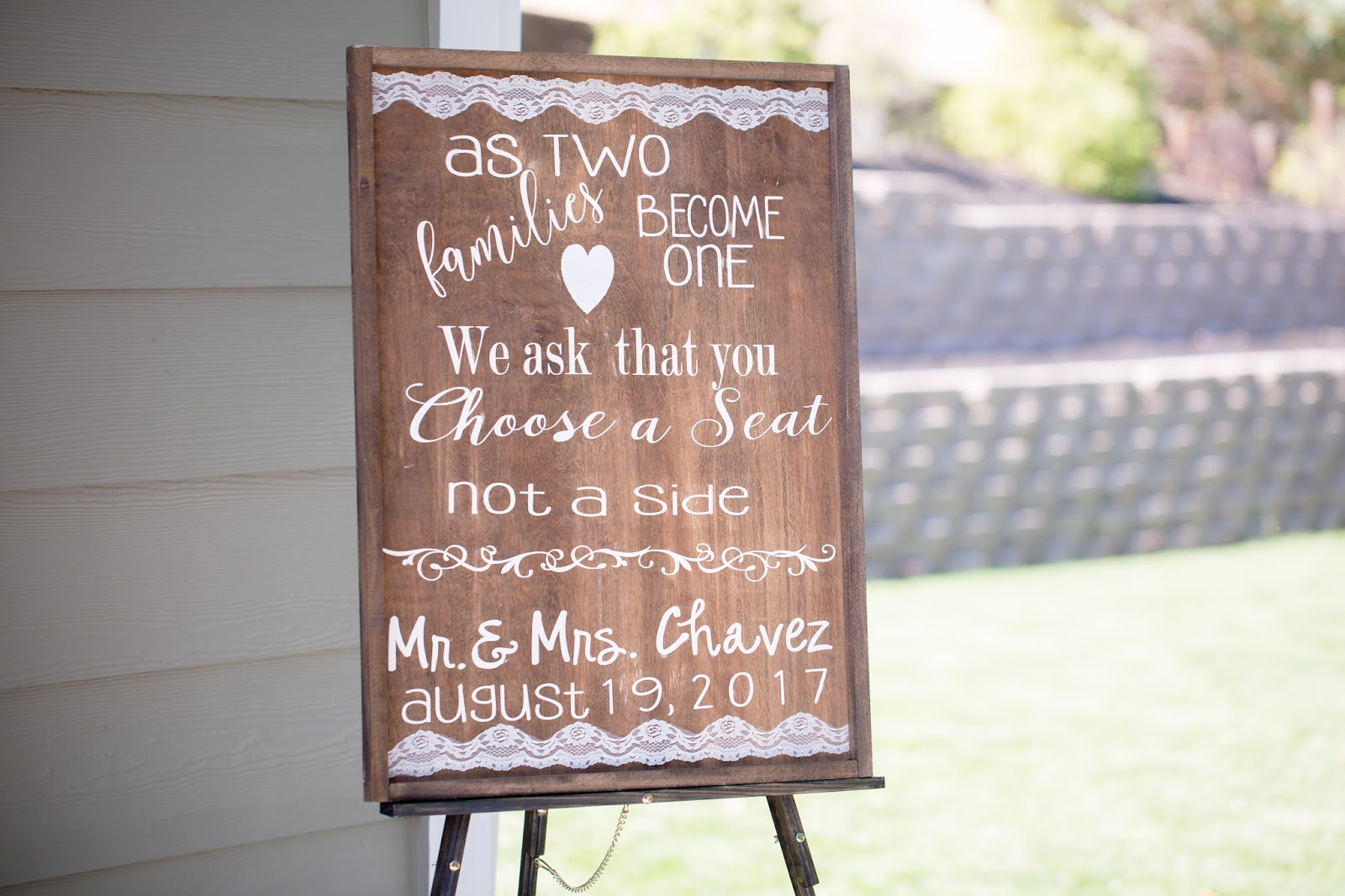 DIY Ceremony Sign
