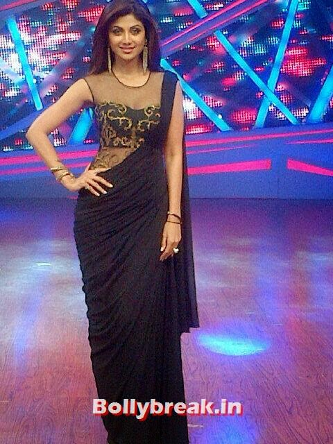 , Shilpa Shetty in Backless Saree on DID - Latest Pics