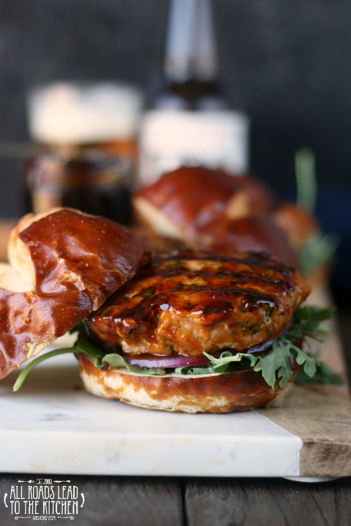 Mahi Mahi Burgers Glazed with IPA-Hoisin Barbecue Sauce