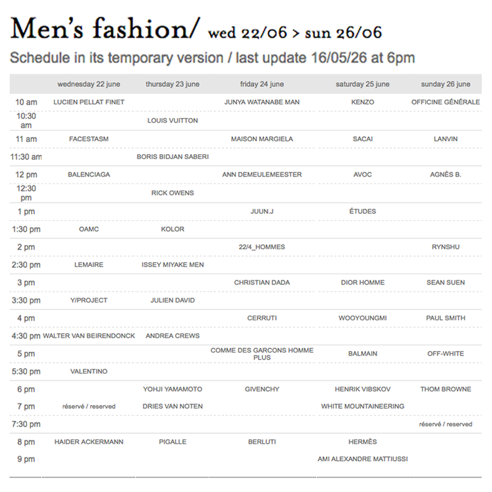 Opolop Poppy Paris Mens Fashion Week S S 2017 Schedule