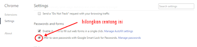 Cara Membuat Browser berhenti Meminta Save Password pada Google Chrome