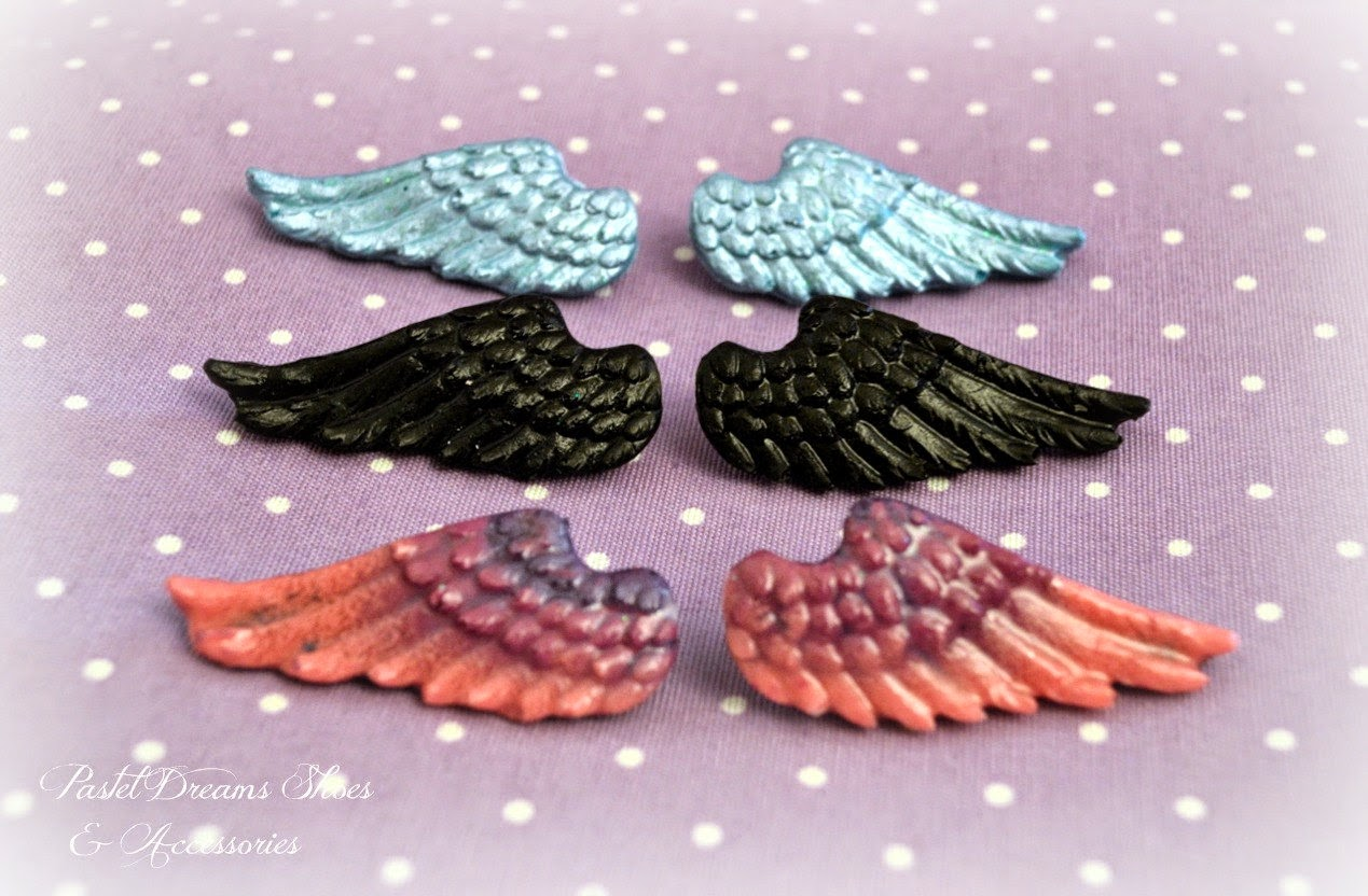 Pastel Goth Creepy Cute Witch Witchy Etsy Accessories Inspiration Kawaii Wing Angel Hair Clips Slides