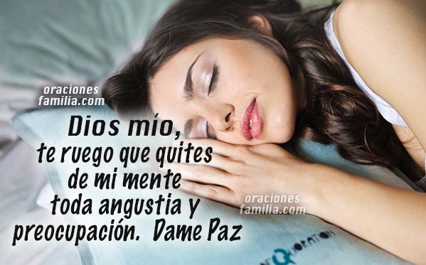 mujer duerme , oraciones noche