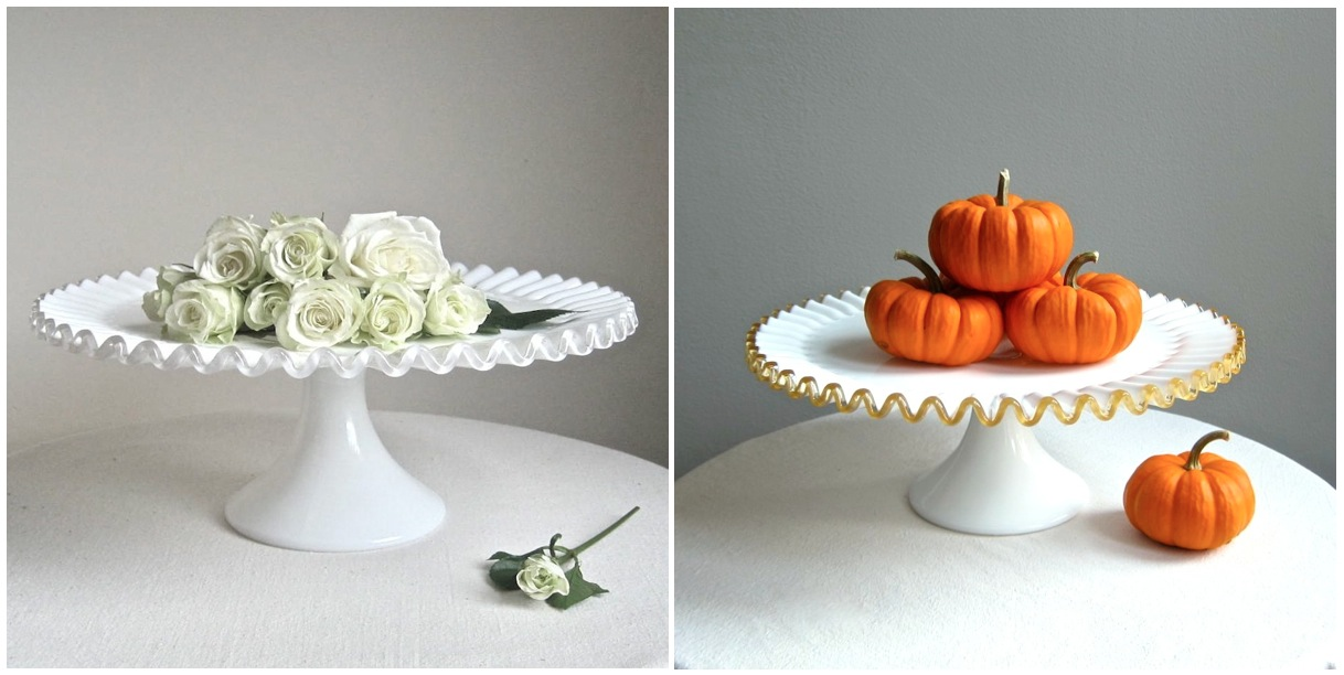 Part Mold Glass Cake Stand