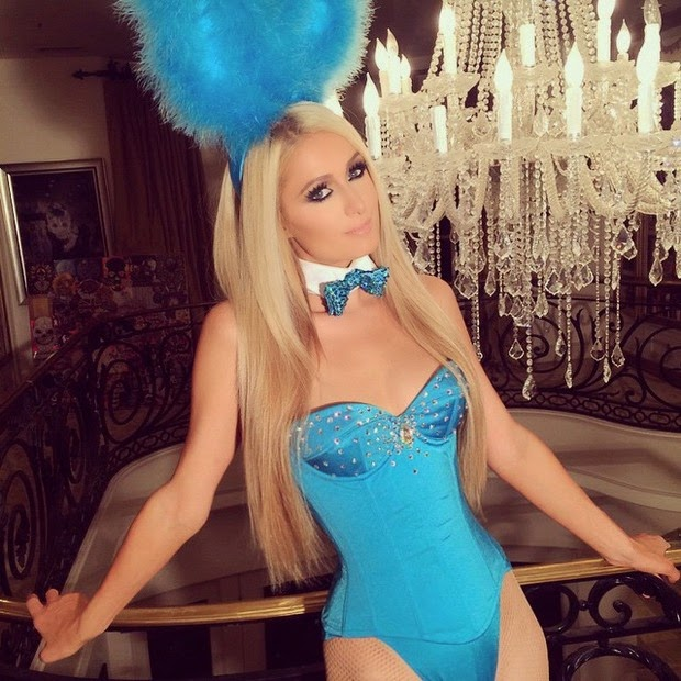 The socialite used Instagram to show her bunny costume