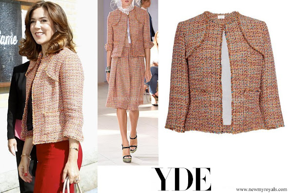 Crown Princess Mary wore Yde Jana Jacket in Orange