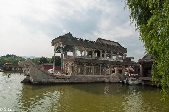 Barco de Marmol del Palacio de Verano. Pekin