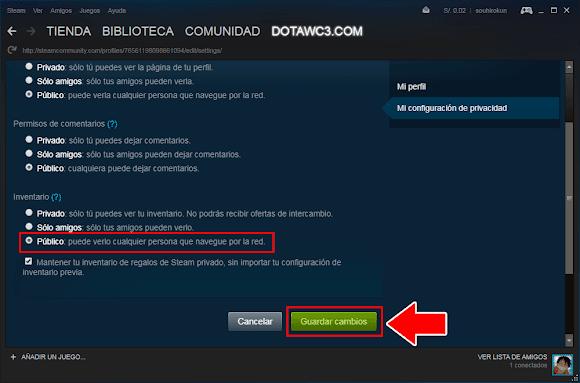 Cómo obtener tu url de intercambio o tradelink