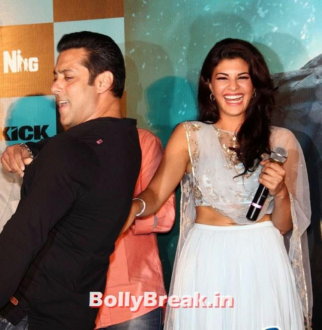 Salman Khan and Jacqueline Fernandez at Trailer Launch of Film 'Kick', Salman, Jacqueline sizzles at Kick Film Trailer Launch