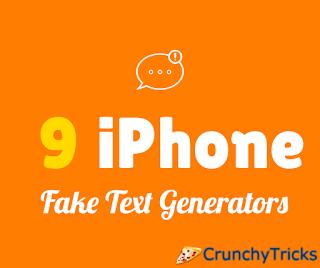 iPhone Fake Text Generators