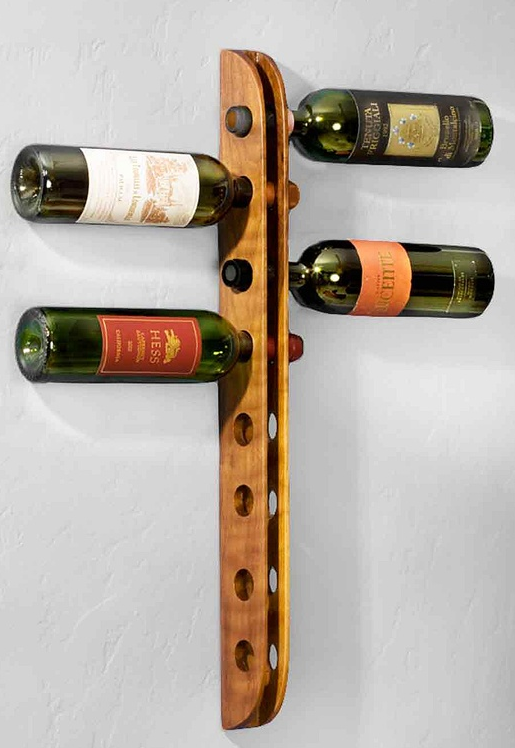 Woodwork Wall Mounted Wood Wine Rack Plans PDF Plans