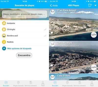 App para buscar playas