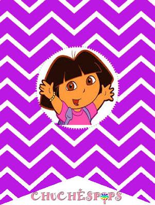 Banderin morado Dora Exploradora