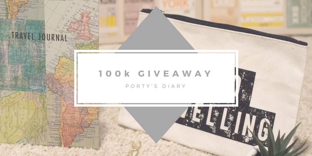 100k Views Giveaway - Travel Journal, travel bag and pen.