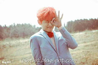 Kim Taehyung / V BTS with Orange Hairstyle Funny Photos