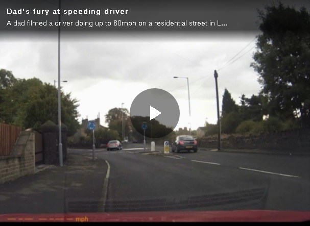 VIDEO: Dad 'incensed' by speeding driver he filmed on wrong side of road