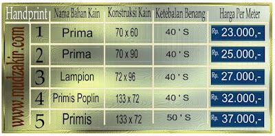 Grosir Kain batik di Jakarta jenis printing sudah
