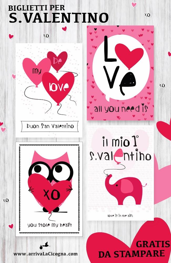 biglietti di auguri per S.Valentino stampabili