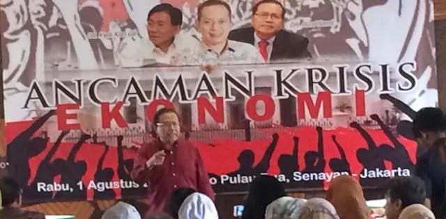 Rizal Ramli Kembali Ingatkan Ekonomi Nasional Mengarah Pada Krisis
