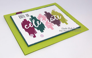 Linda Vich Creates: 2017 Catalog Launch Party. The 2017-2019 In Colors are featured on this card that uses debossing from the Celebrations Duo Embossing Folders.