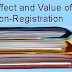 Effect and Value of Non-Registration