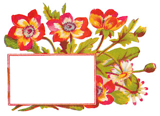 label flower floral frame blank printable crafting clipart download
