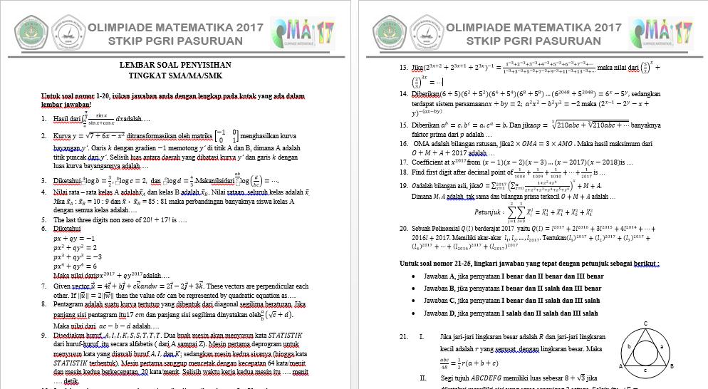 Olimpiade Matematika Ke Xviii