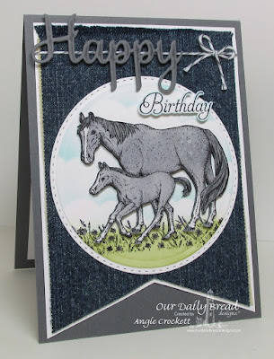 ODBD Saddle Up, ODBD Custom Double Stitched Circles Dies, ODBD Custom Matting Circles Dies, ODBD Custom Happy Birthday Dies, Card Designer Angie Crockett