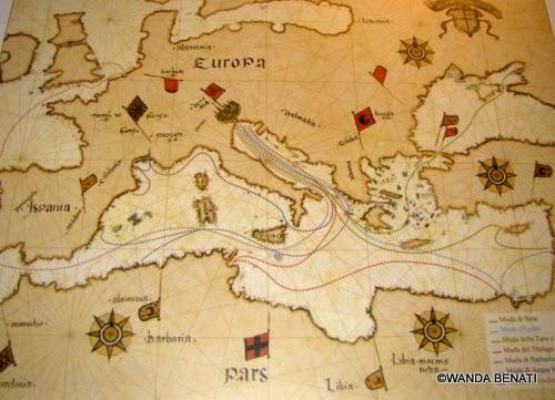 mappa delle antiche Mude vemeziane