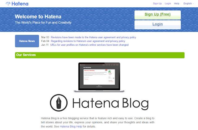 website của Hatena (hatena.ne.jp/ hatena.com