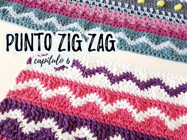 imagen punto zig zag crochet la colcha de mis sueños ahuyama