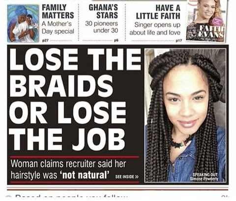 Are You Kidding Me? Loose Your Braids Or Loose You Job