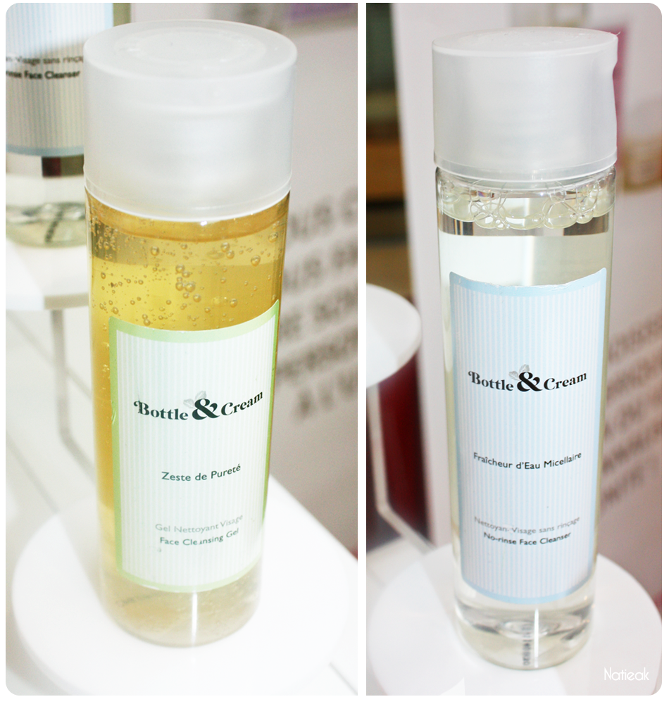 eau micellaire et gel nettoyant visage de Bottle&cream