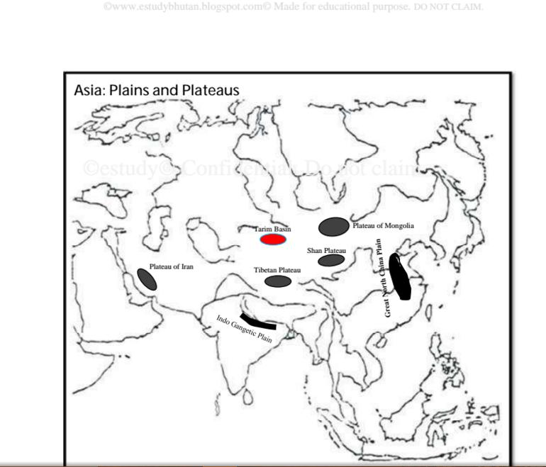 Asia Maps ~ eStudy Bhutan