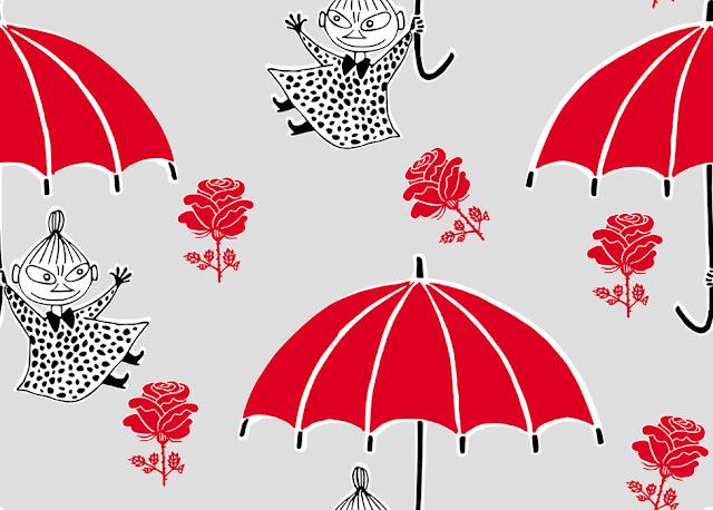 Muumi tapetti Pikku Myy sateenvarjo
