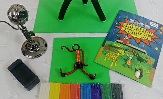 The contents of the Zu3D stop motion animation kit