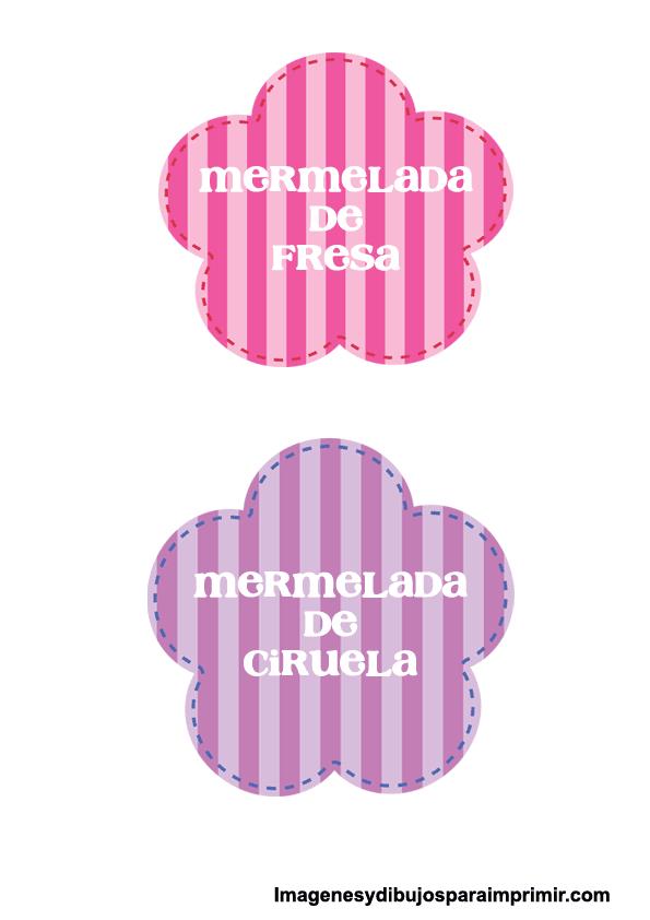 Etiquetas de mermelada para imprimir