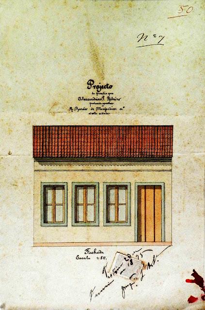 Amostra do acervo de projetos arquitetônicos do Arquivo Geral da Prefeitura de Vitória