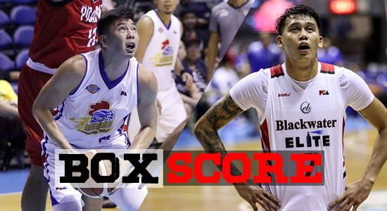 Box Score List: Magnolia vs Blackwater 2018 PBA Governors' Cup