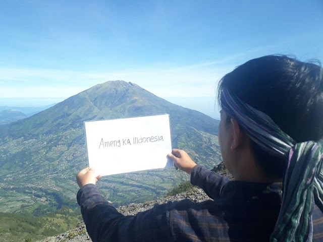the peak of mount merbabu