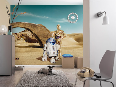 star wars tapet R2D2 C3PO droids fototapet