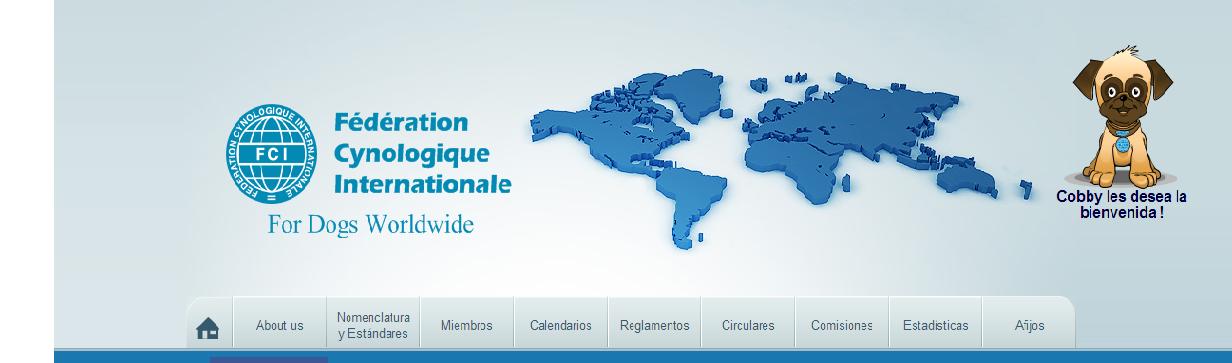 Portada Web FCI Federación Cinológica Internacional