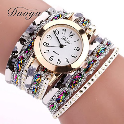 Duoya Fashion Bracelet Watch for Women - Ladies Gemstone Wristwatch