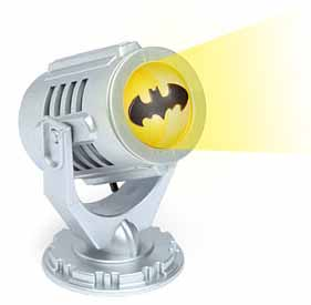 A desk top Bat Signal, a perfect gift for any Batman fan